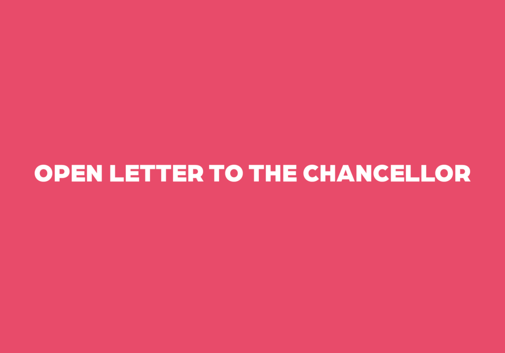 Open Letter to the Chancellor