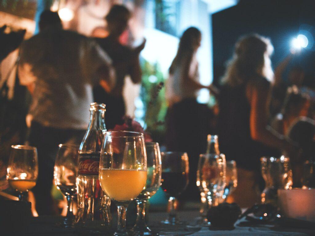 People enjoying a drink in a bar