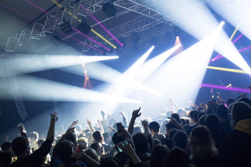 People in a nightclub